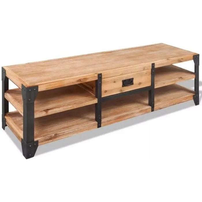 meuble tv bas bois style louis xv