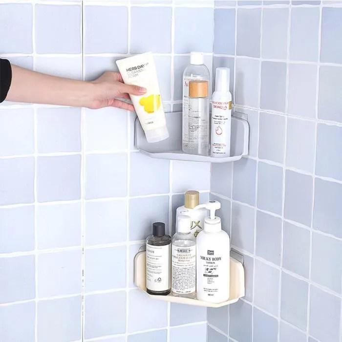 etagere d angle a ventouse salle de bain murale de douche a suspendu rangement pour shampooing savon 19 0 19 0 8 0cm 13