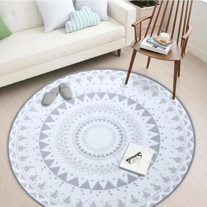 tapis rond de style nordique scandinaves geometri