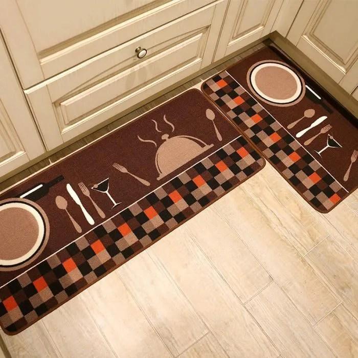 tapis de cuisine devant evier lot 2 tapis passage