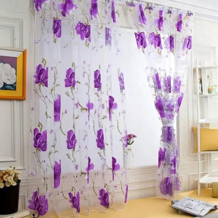 1pcs 100x200cm rideaux voilage pour porte fenetre