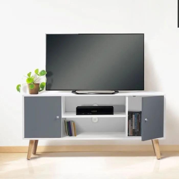 meuble tv scandinave gris