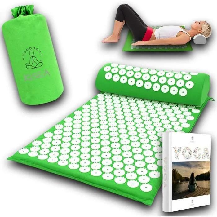 kisea tapis acupression massage dos ideal pour l