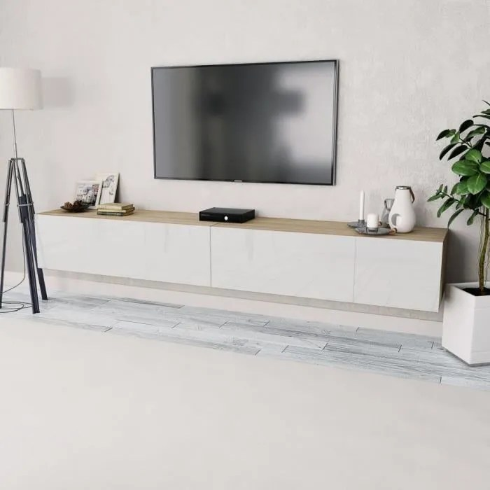 meuble bas tv scandinave banc television table de