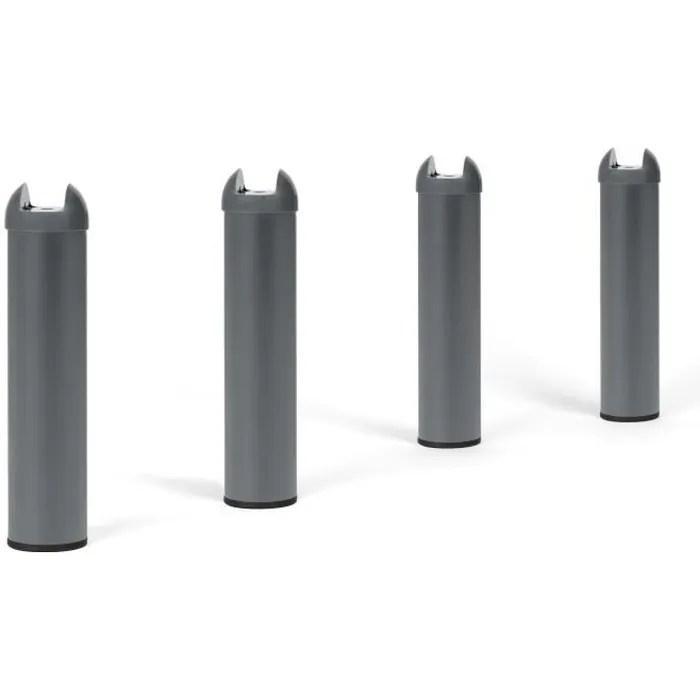 4 pieds metal h 28 cm pour sommier metal