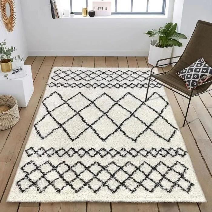 tapis berbere noir et blanc