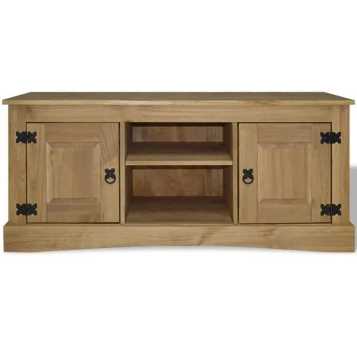 magnifique meuble tv pin mexicain gamme corona 12