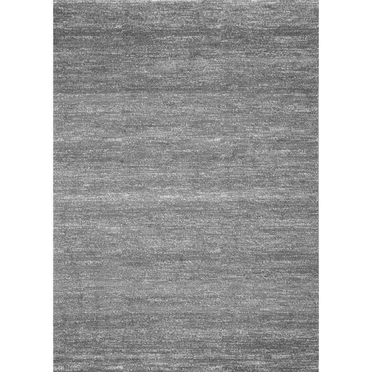 tapis moderne a poils ras chine gris et blanc pour salon 80x150 cm