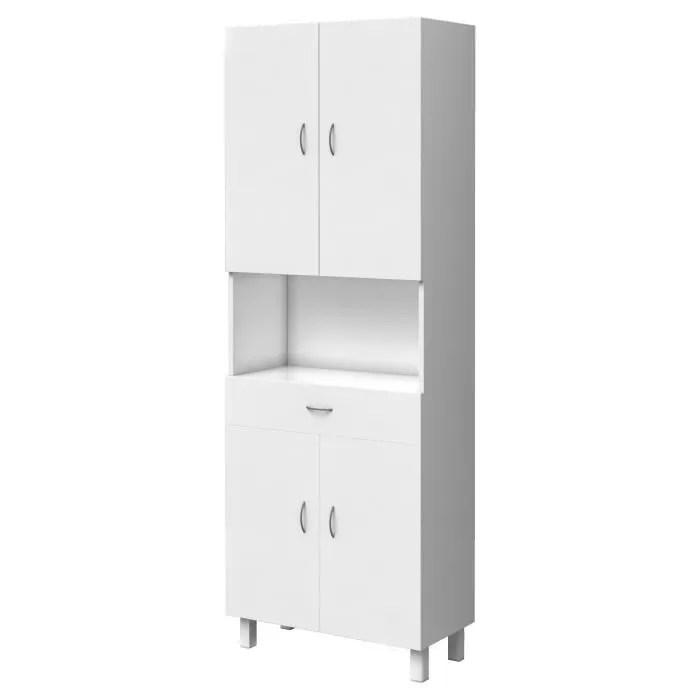 essentiel colonne de salle de bain 4 portes blanc l 65 cm