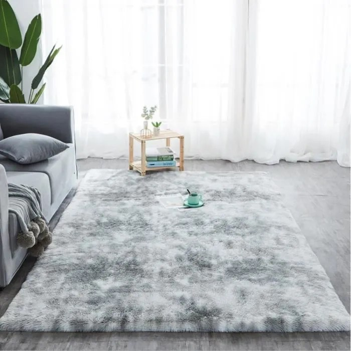 tapis de salon gris clair 120 x 160 cm