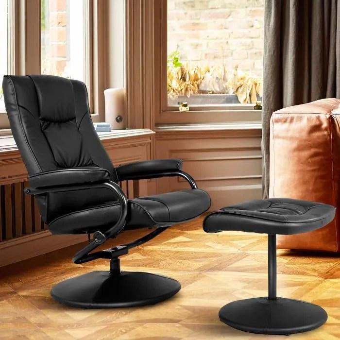costway fauteuil inclinable siege de
