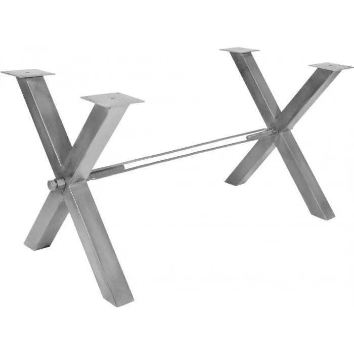 pied de table moderne en fer 80x73 cm