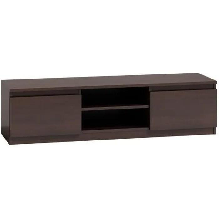 meuble tv moderne pour salon 140 cm 40 wenge
