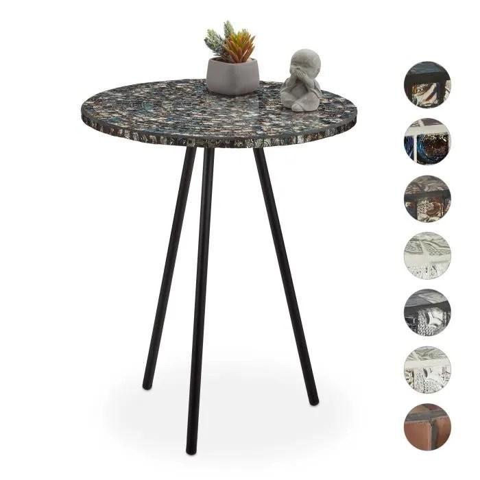 table ronde en mosaique