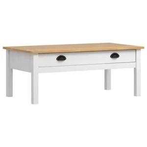 pin massif 1 tiroir table basse