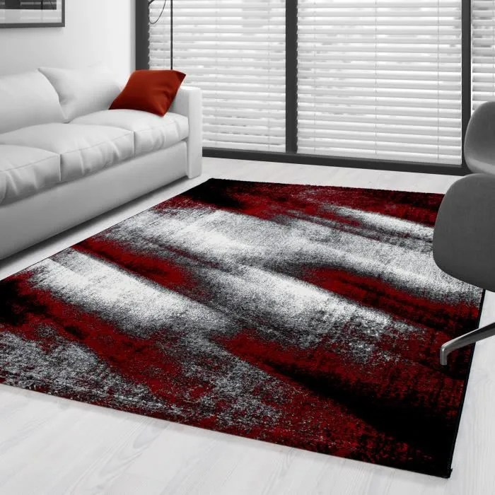 tapis moderne design salon abstrait