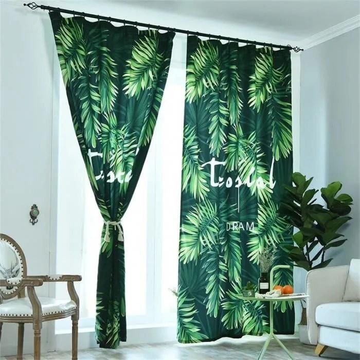 rideau crochete imprime par tropical rainforest en