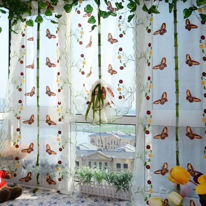 gosear 1 rideau avec papillon motif store bateau