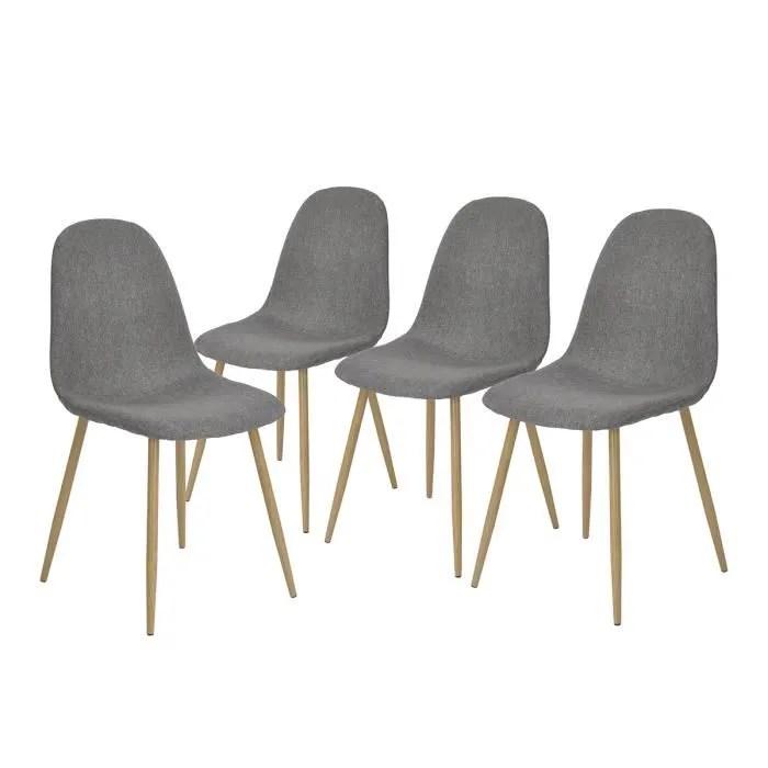 lot de 4 chaises de salle a manger style scandinav