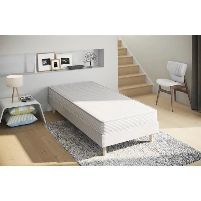 lit 1 personne avec sommier et matelas