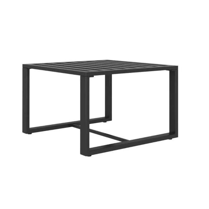 table basse aluminium anthracite salon
