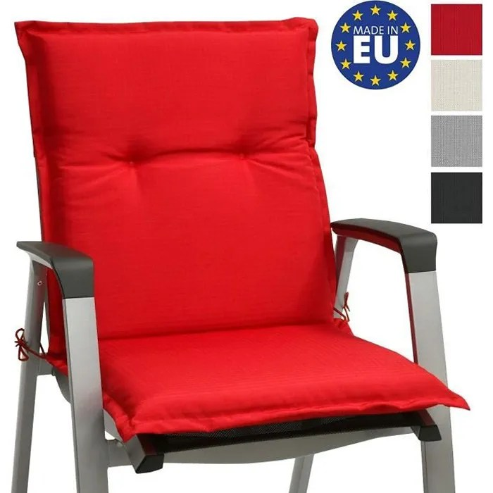 beautissu matelas coussin pour chaise fauteuil de jardin terrasse base nl 100x50x6cm rouge