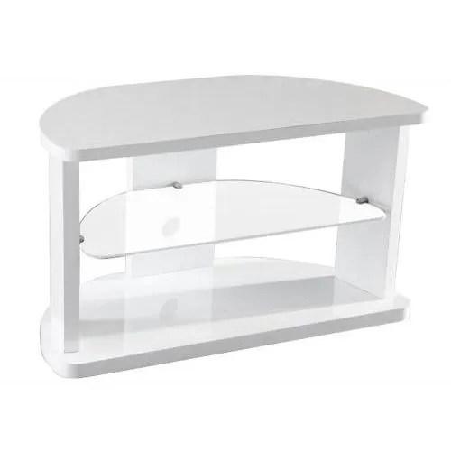 meuble tv d angle laque blanc mila