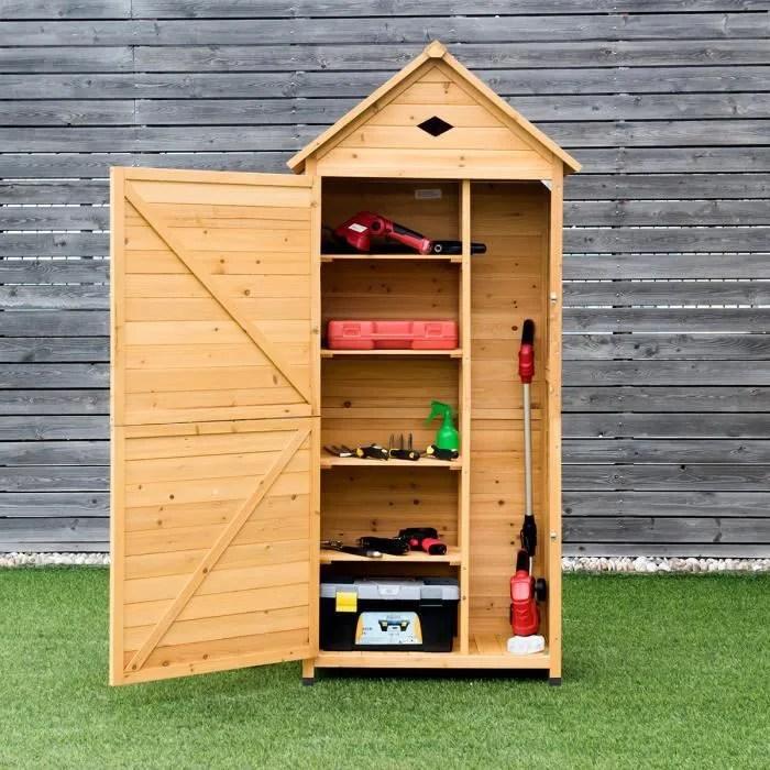 costway armoire abri de jardin en bois remise pour