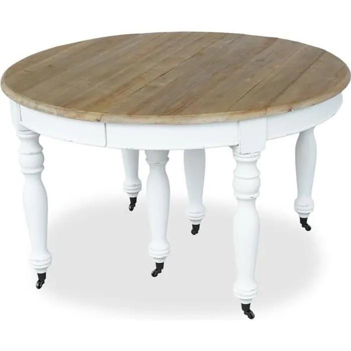 table ronde extensible en bois massif lavandou bla