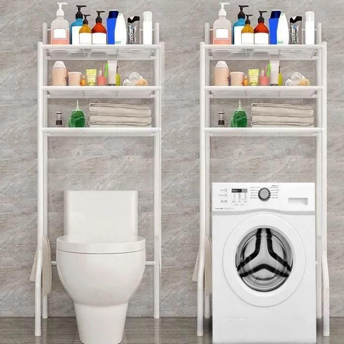 meuble toilette wc etagere dessus stockage pour salle de bain aw23249