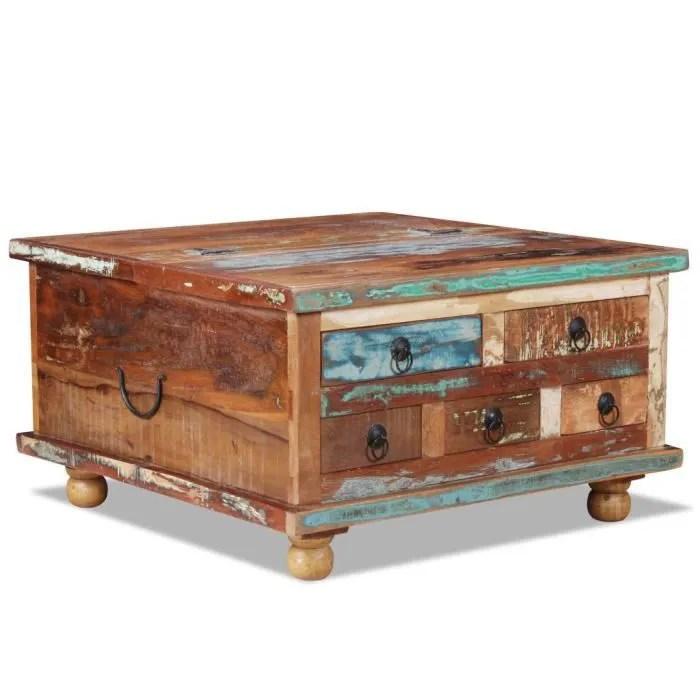 table basse style industriel bois de recuperation