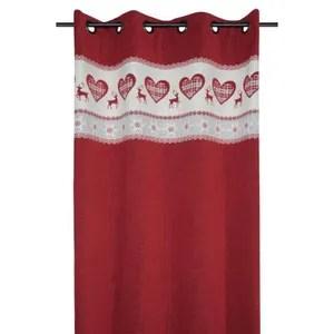 rideaux montagne rouge