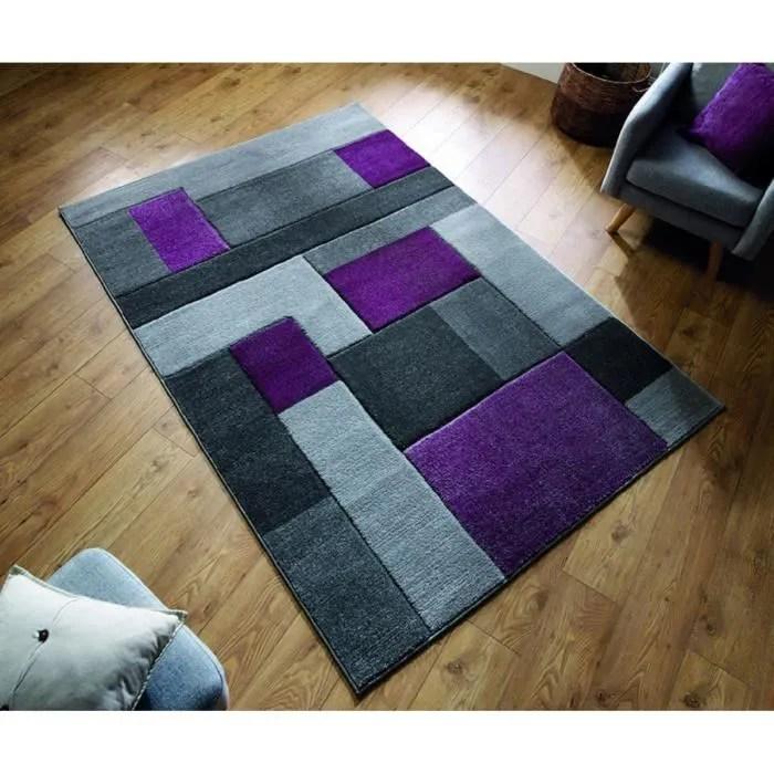 novatrend tapis de salon design space violet 160x230 cm