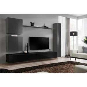 meubles salon noir achat vente