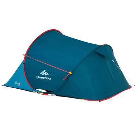 tente de camping 2 seconds bleue 2 personnes quechua by decathlon