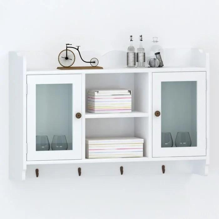 meuble vitre blanc