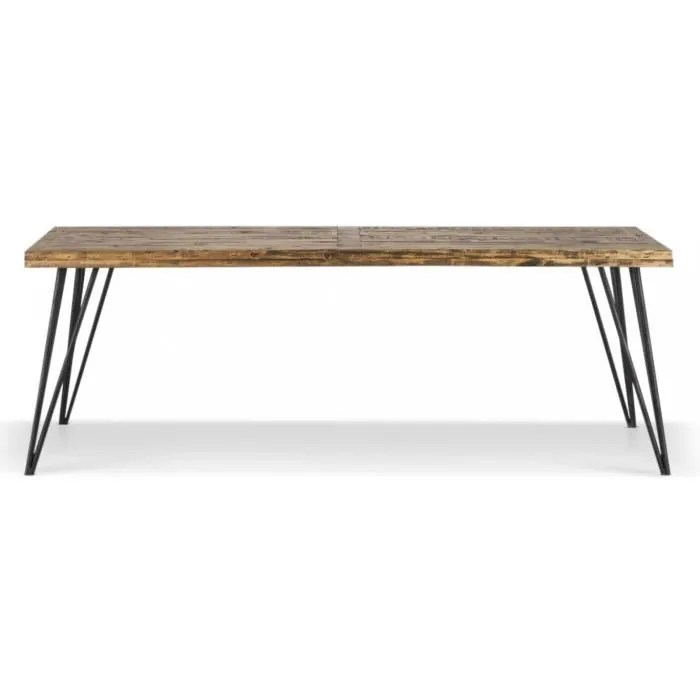 table bois et fer forge