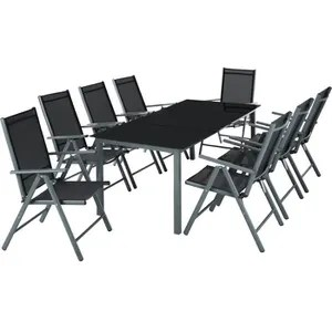 salon de jardin table en verre