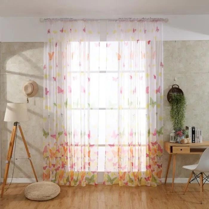 1 panneau rideau voilage 100 x 200 rideaux voilag