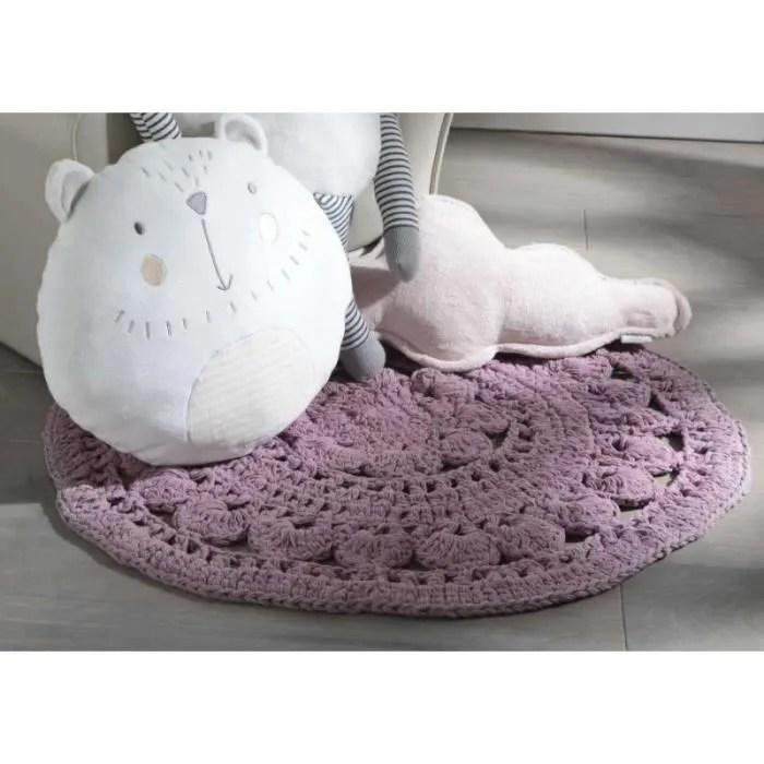 tapis rond crochet