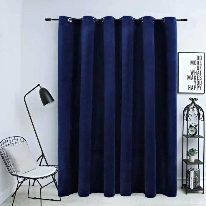 rideau linge bleu cm