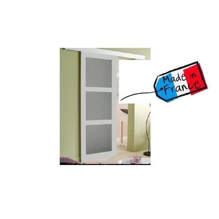 porte coulissante gris clair 204x73