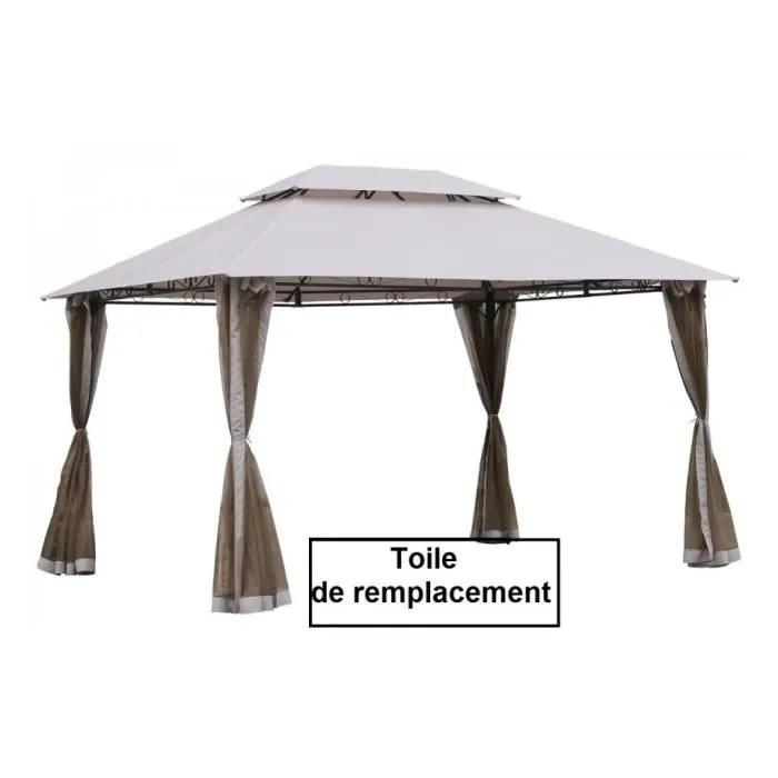 Toile Toit Taupe Pour Tonnelle Fogo 3x4m Hesperide Achat Vente Tonnelle Barnum Toile Tonnelle Fogo Cdiscount