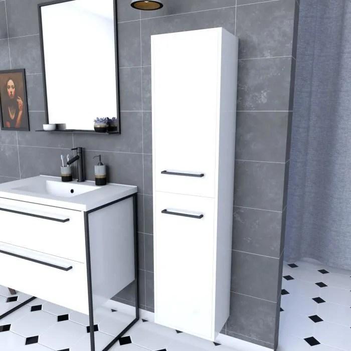 colonne de salle de bain blanche 30x35x150 cm avec