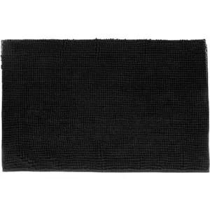tapis salle de bain noir