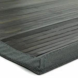 tapis bambou noir