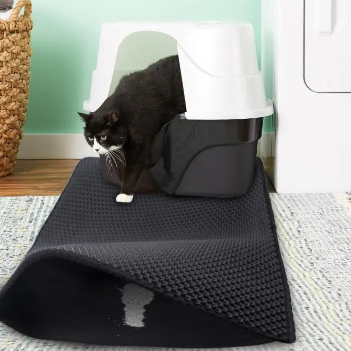 tapis anti litiere chat