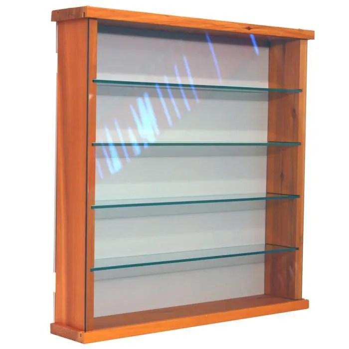 exhibit vitrine en pin 4 etageres en