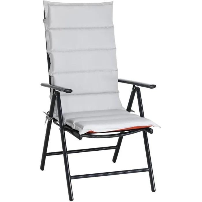 set de 6 coussins de chaise avec dossier et attaches galette coussin fauteuil gris terracotta jardin maison interieur exterieur