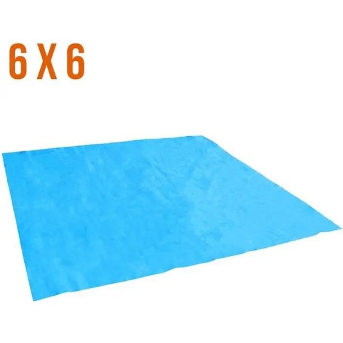 tapis de sol et de protection bleu pour piscine 6